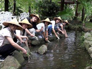 台湾の童話村。おとぎ話に出て来るような空...