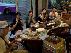 日本の大学生たちが、無農薬栽培&健康に良い台湾のお茶を祥語農場で体験
